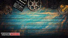 دانلود مجموعه عکس استوک سینمایی Cinema concept of vintage film reels