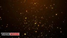 دانلود بک گراند موشن گرافیک از پارتیکل های طلایی Golden Particles Backgrounds