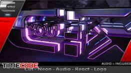 دانلود پروژه آماده افترافکت مخصوص لوگو سه بعدی + همراه با موسیقی Cut Neon Audio React Logo