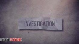 دانلود پروژه پریمیر با تم جنایی همراه با موسیقی Investigation