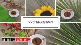 دانلود تصاویر استوک از فنجان قهوه روی میز Coffee Garden