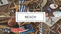 دانلود تصاویر استوک : لوازم دکوری دریایی Rustic Beach