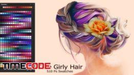 دانلود پالت رنگ فتوشاپ Cute Girly Hair Ps Swatches