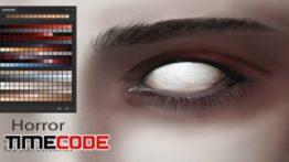 دانلود پالت رنگ فتوشاپ Horror Eyes & Skin Ps Swatches