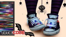 دانلود پالت رنگ فتوشاپ Witchy Socks & Shoes Ps Swatches