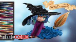 دانلود پالت رنگ فوتوشاپ Witch Ps Swatches
