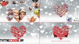 دانلود پروژه آماده اپل موشن وله عروسی Romantic Hearts Opener – Apple Motion