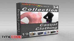 دانلود آبجکت سه بعدی : لوازم فروشگاه پوشاک 3D Model Collection  Volume 34: Casual Clothing