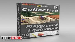 دانلود آبجکت سه بعدی : پارک و زمین بازی کودکان 3D Model Collection  Volume 14: Playground