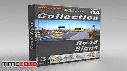 دانلود آبجکت سه بعدی : تابلو راهنمایی و رانندگی 3D Model Collection  Volume 4: Road Sign