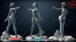 دانلود مدل آماده برای پرینت سه بعدی Black Widow 3D Print Model