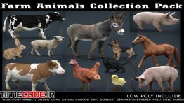 دانلود مدل آماده سه بعدی : حیوانات مزرعه Farm Animals Collection Pack