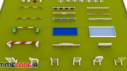 دانلود مدل آماده سه بعدی برای ساخت باشگاه سوارکاری  Horse jumping obstacle small pack low poly