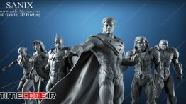 مدل آماده پرینتر سه بعدی : قهرمانان فیلم لیگ عدالت Justice League – 6 characters for 3D Printing