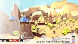 دانلود مدل آماده سه بعدی سرخ پوست ها + انیمیشن Lowpoly Native American Pack