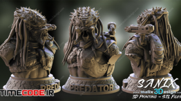 دانلود مدل آماده برای پرینت سه بعدی : موجود افسانه ای Predator Bust – 3D Printable Model