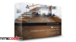 دانلود مجموعه مدل آماده سه بعدی پله CGAxis Models Volume 42 Stairs + Render Scene