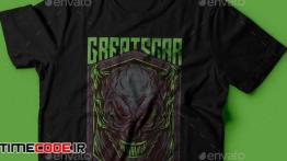 دانلود طرح لایه باز تی شرت Great Scar T-Shirt Design