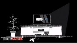 نمونه تیزر موشن گرافیک : تبلیغ کانال HBO