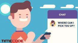 نمونه تیزر موشن گرافیک اپلیکیشن درخواست خودرو – تاکسی آنلاین