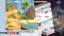 دانلود مدل آماده سه بعدی برای بازی و کارتون PolyWorks: Full Pack