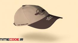 دانلود طرح لایه باز کلاه تبلیغاتی Baseball Cap Branding Template