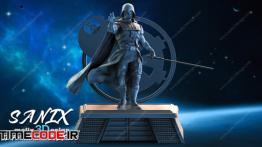 دانلود مدل آماده برای پرینتر سه بعدی : جنگ های ستاره ای Darth Vader – Starwars 3D Printable Ready