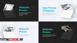 دانلود پروژه آماده پریمیر : معرفی وب سایت Laptop Website Presentation