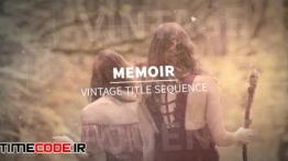 دانلود پروژه آماده افترافکت : تیتراژ فیلم همراه با موسیقی Memoir