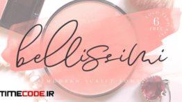 دانلود فونت انگلیسی برای طراحی لوگو Bellissimi + 6 Free Logo Templates