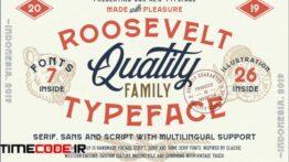 دانلود فونت انگلیسی کلاسیک Roosevelt Font Family