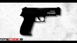 دانلود پروژه آماده افترافکت : لوگو اسلحه + موسیقی Bullet Logo Intro
