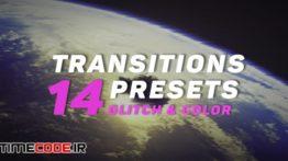 دانلود پریست پریمیر : ترنزیشن نویز و پارازیت Glitch And Color Transitions Presets