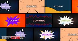 دانلود پروژه آماده افترافکت : کمیک بوک Comic Fast Stomp