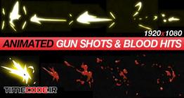 دانلود مجموعه فوتیج شلیک اسلحه و خون کارتونی Gun Shots & Blood Hits – Anime Action Essentials