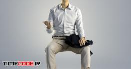 دانلود مدل آماده سه بعدی : انسان نشسته Man Ray Business Sitting 001
