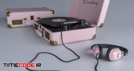 دانلود مدل آماده سه بعدی : دستگاه دی جی Crosley Vinyl Player