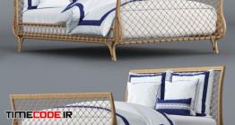 دانلود مدل آماده سه بعدی : تخت خواب Avalon Bed And Beach Club Border Bedding Set