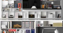 دانلود مدل سه بعدی : قفسه کتاب