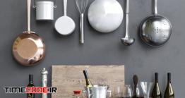 دانلود مدل آماده سه بعدی : لوازم آشپزخانه Baltimora Decor Set