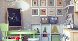 دانلود مدل سه بعدی : دکوراسیون اتاق کودک Children decor And Furniture