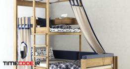 دانلود مدل سه بعدی : تخت خواب Cot De Breuyn