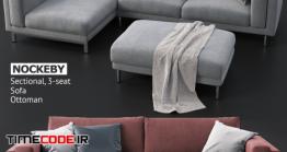 دانلود مدل آماده سه بعدی : مبلمان Sofas And Ottoman IKEA NOCKEBY