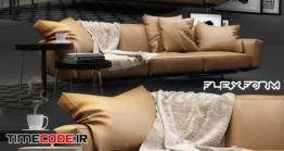 دانلود مدل آماده سه بعدی : مبلمان Flexform Soft Dream Sofa
