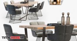 دانلود مدل آماده سه بعدی : میز نهار خوری Freifrau Dining Set