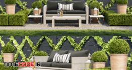دانلود مدل سه بعدی : گیاهان حیاط Garden Seating Area