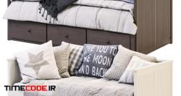 دانلود مدل سه بعدی : تخت و مبل راحتی ایکیا HEMNES IKEA / HEMNES IKEA