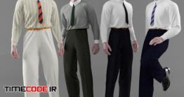 دانلود مدل سه بعدی : لباس مردانه Classic Men's Clothing