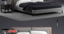 دانلود مدل سه بعدی : تخت خواب Bed Minotti Tatlin SOFT