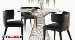 دانلود مدل آماده سه بعدی : میز و صندلی گرد Melrose Chair